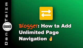 Numbered page navigation for Blogger