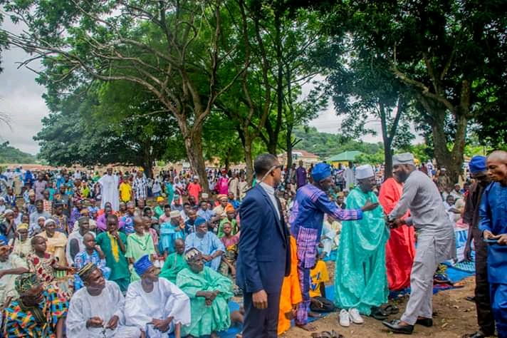 Oyo State Speaker Rt Hon Ogundoyin Adebo Celebrates Eid Al Adha With His Home Town People in Eruwa also Prays With Them See Photos8
