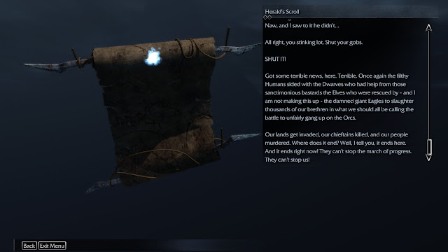Screenshot of an artifact in Shadow of Mordor