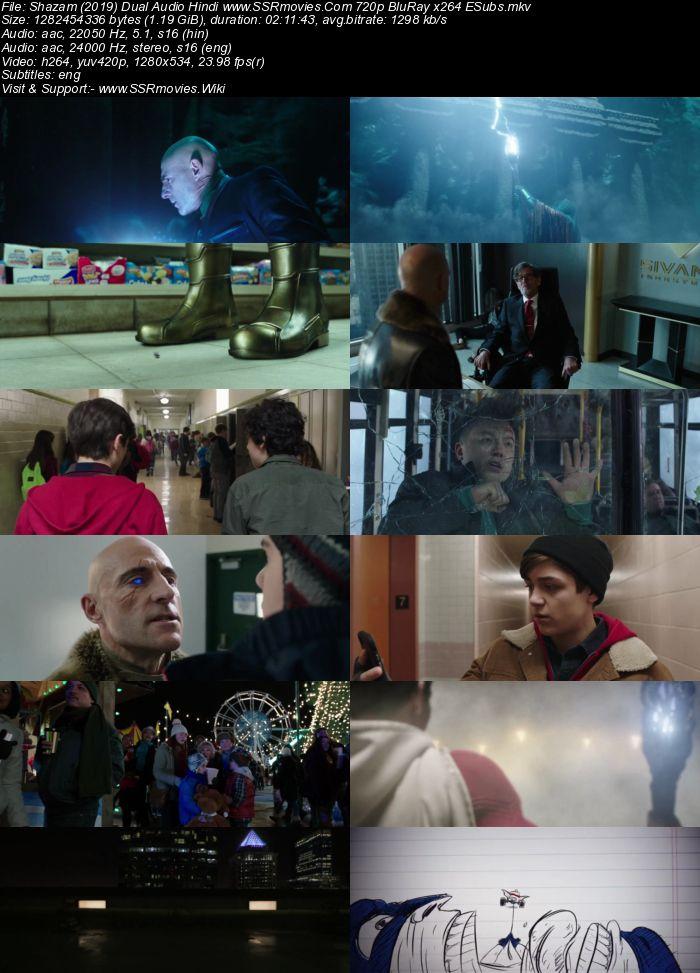 Shazam (2019) Dual Audio Hindi ORG 720p BluRay x264 1.2GB ESubs Movie Download
