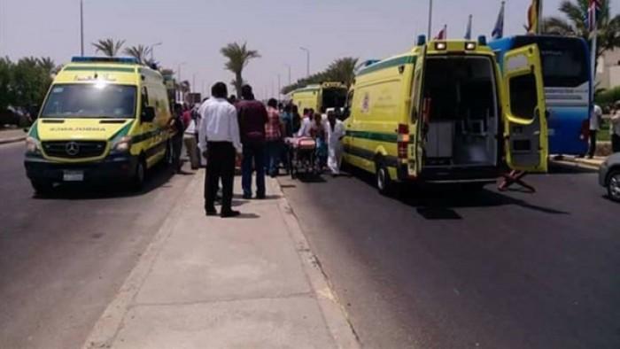 إصابة 7 سائحين فى حادث تصادم بطريق أسوان القاهرة الزراعي