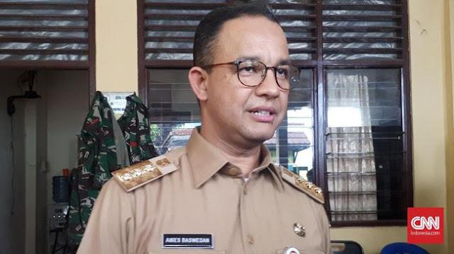 Anies Disomasi Sopir Angkot Tuntut Pembukaan Jalan Jatibaru