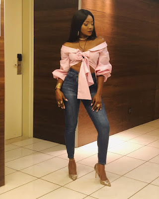 Music star Simi steps out in style