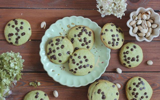 Die gehen jede Woche: Pistazien-Schoko-Cookies