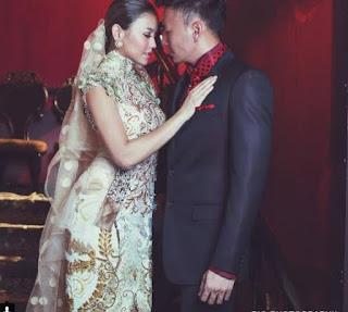 Baju Kebaya Lengan Pendek Agnes Monica Warna Putih Payet Pearl Modern Prewedding