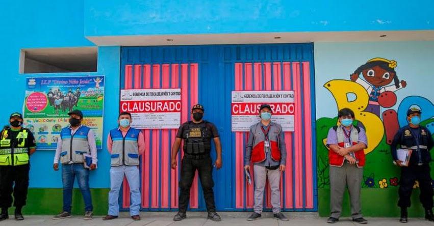 Clausuran jardín de niños en Pachacámac donde dictaban clases presenciales