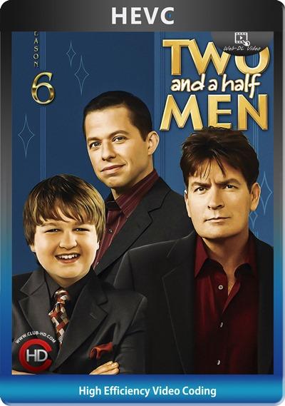 Two And Half Men (2008) S06 1080p AMZN WEB-DL Dual Latino-Inglés [HEVC-10bit] [Subt. Esp] (Serie De TV. Comedia)