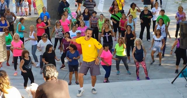 Dance Aerobics at Parque Micaela Bastidas