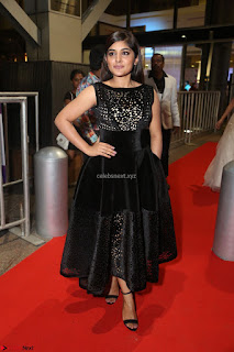 Niveda Thomas Black Sleeveless Cute Dress at 64th Jio Filmfare Awards South 2017 ~  Exclusive 092.JPG