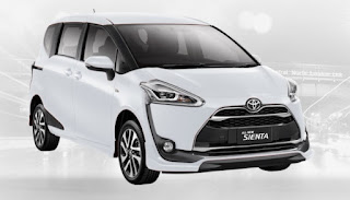 Harga Toyota Sienta di Pontianak Warna Super White