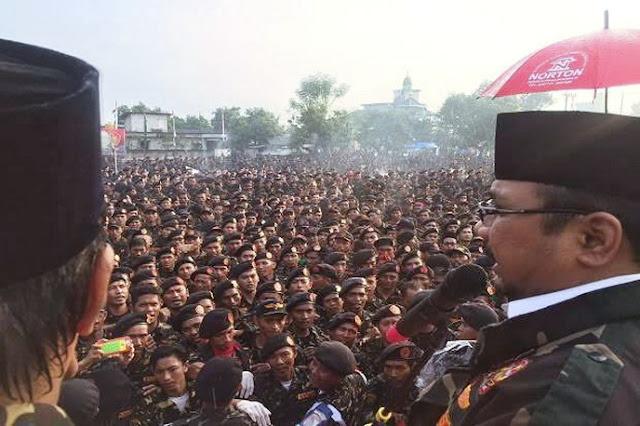 Jutaan Banser Gelar Apel Kebangsaan, Netizen: Sebaiknya Dikerahkan ke Papua, Menumpas OPM