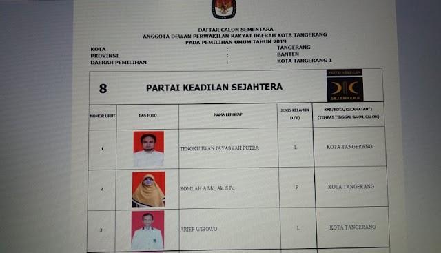 Enam Partai Loloskan 50 Kadernya Masuk DCS KPU Kota Tangerang