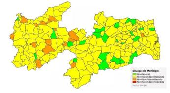 Nova avaliação do governo mostra o dobro de municípios em bandeira verde, na Paraíba