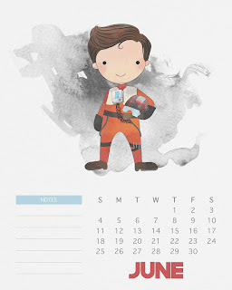 Calendario 2017 de Star Wars para Imprimir Gratis  Junio.