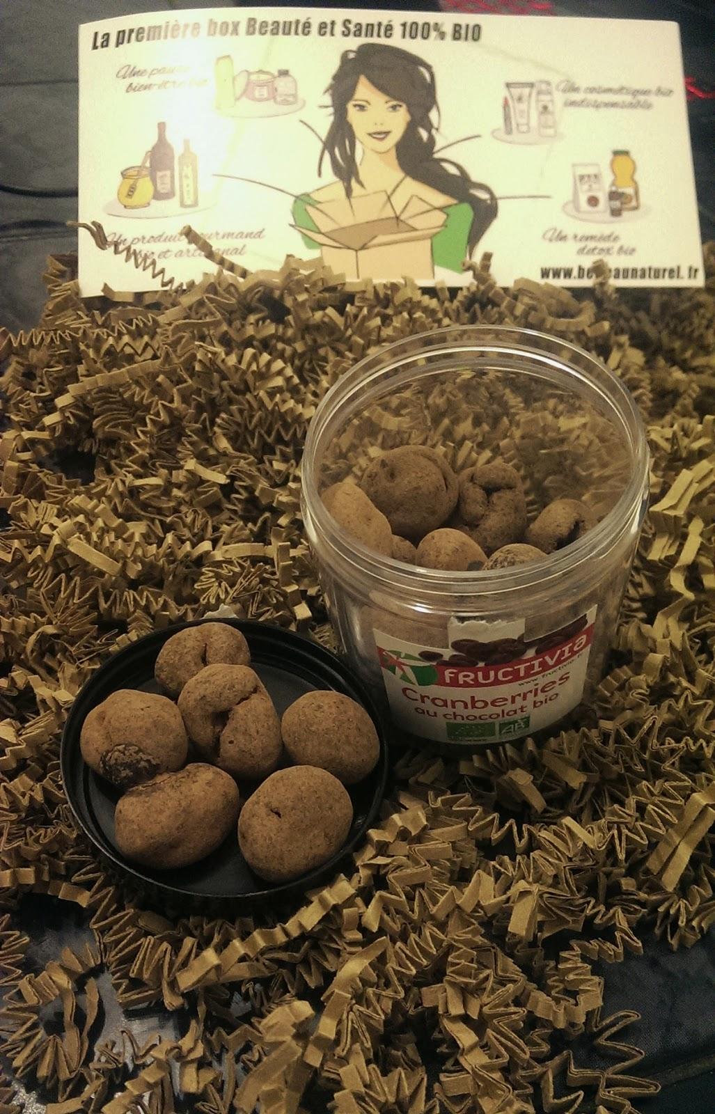 Pot de cranberries au chocolat bio 150g