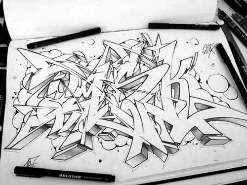 Gambar Graffiti Di Kertas The Expert