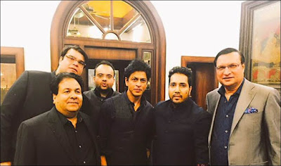 Rajeev-mika-srk-rajatsharma-In-Arun-jaitely-s-daughter-wedding