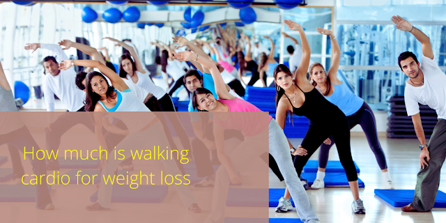 How much is walking cardio for weight loss
