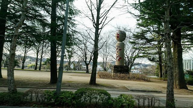 宮城県仙台市 西公園 巨大こけし