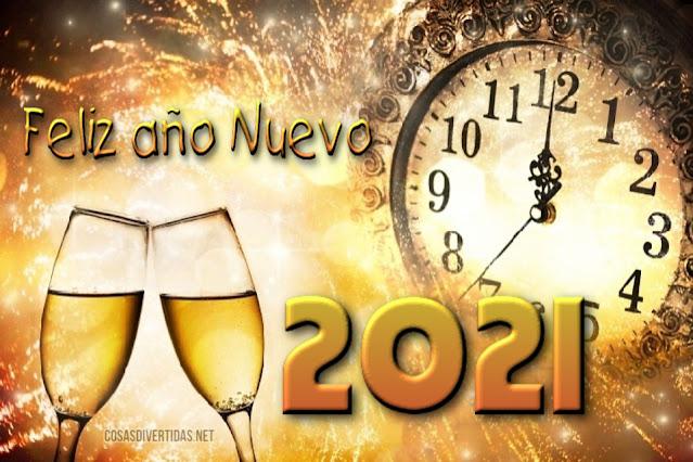 feliz año 2021 copas