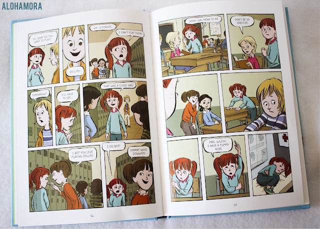 Real Friends by Shannon Hale is a memoir graphic novel that fits perfectly in the middle grade fiction genre. Book for girls in 3rd through 7th grade. Topics: Bullying, Friendship, Self-Esteem, Sibling Relationships, Anxiety, Middle School, Fast Read, Reluctant Reader. Alohamoraopenabook www.alohamoraopenabook.blogspot.com Alohamora Open a Book
