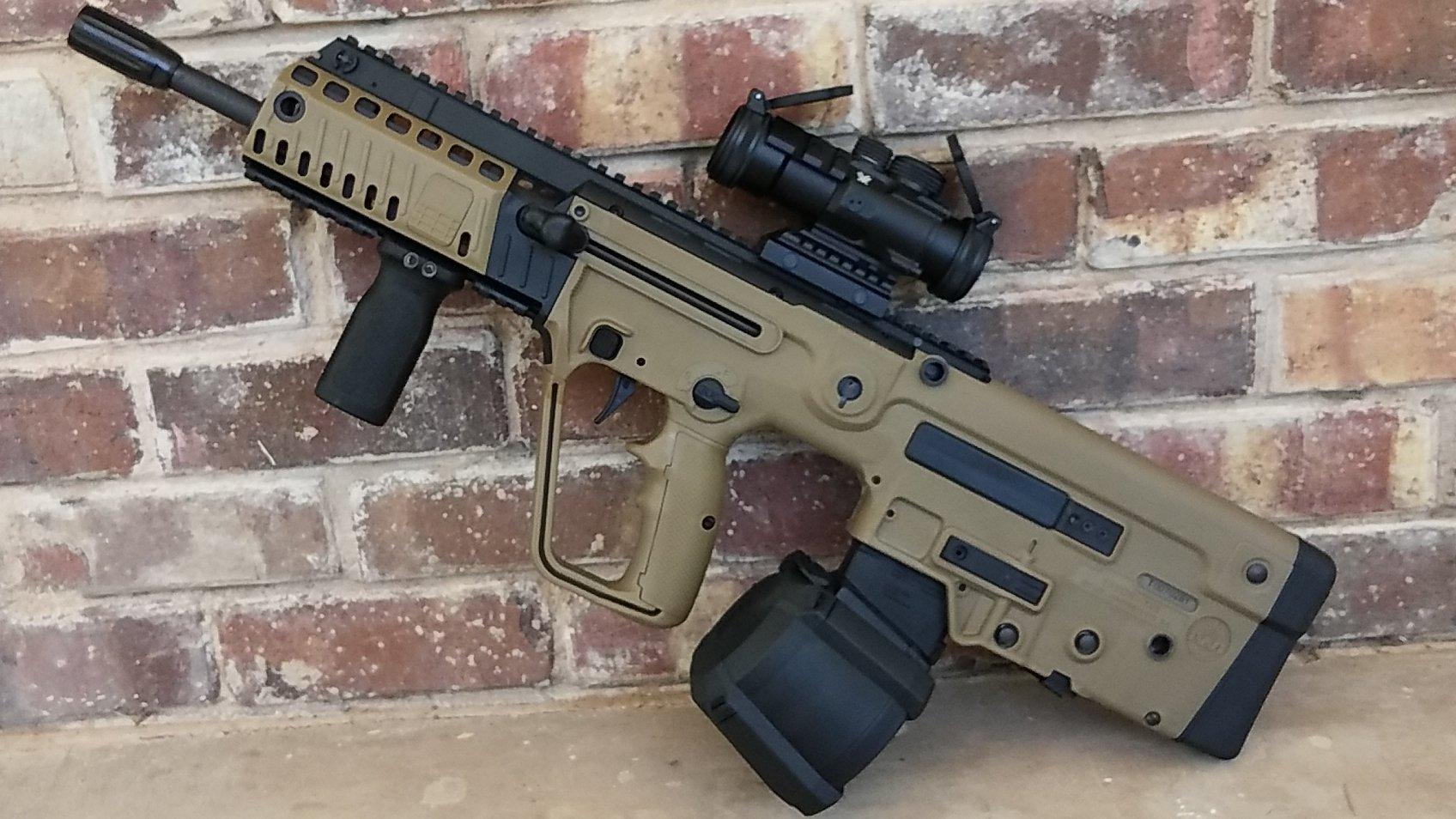 TAVOR X95 Assault Rifle - Magpul PMAG D-650 Drum Magazine - 01