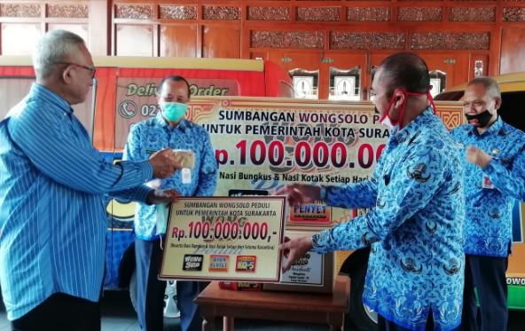 Serahkan Bantuan untuk Warga Karantina. Puspo Wardoyo Titip Pesan Ini, untuk Pengusaha