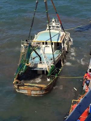 The migrants boat