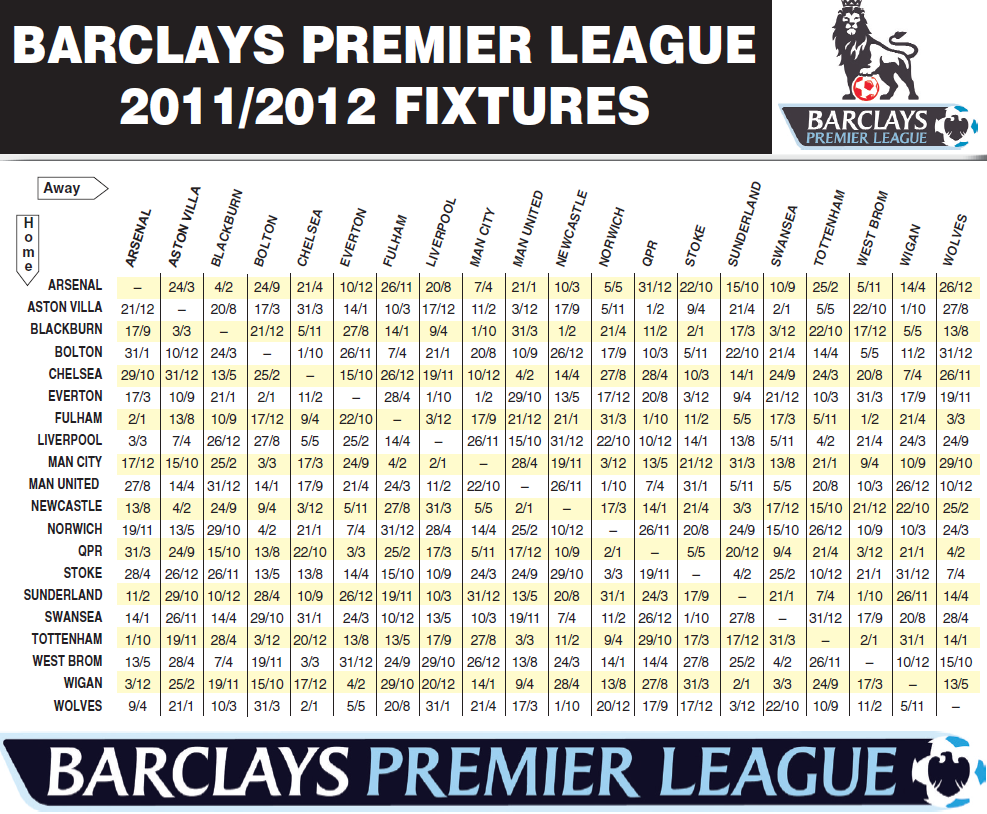 barclays premier league fixtures As the premier league relegation race nears its end, an ex-england international has pointed to a clear sign that aaron mooy's huddersfield know they're in trouble.