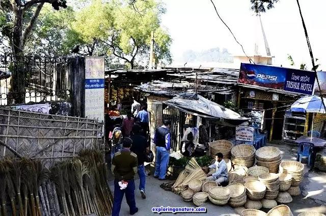 Uzanbazar market near to Umananda Island