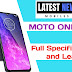 Motorola One Pro Full Specifications, Price and Launch Date in India