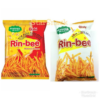 Review Rin-bee Cheesy Pizza Flavor by Oishi