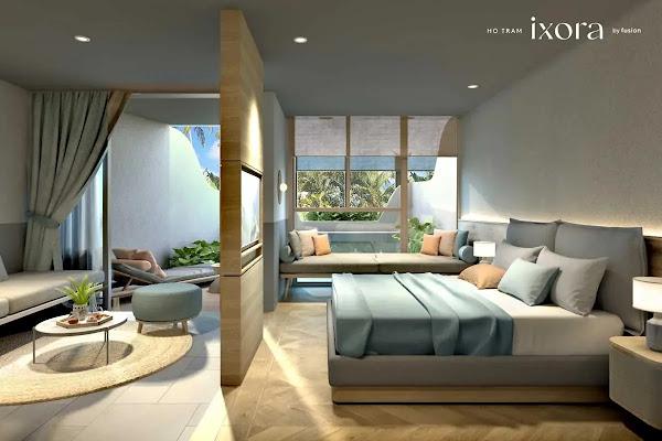 phòng ngủ trong căn hộ thuộc dự án Ixora Hồ Tràm