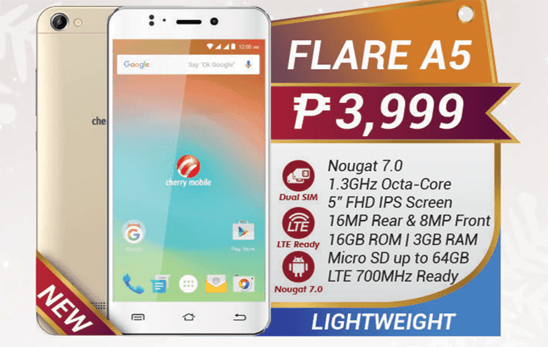 Cherry Mobile Flare A5 has 3GB RAM and 700MHz LTE for just PHP 3,999!