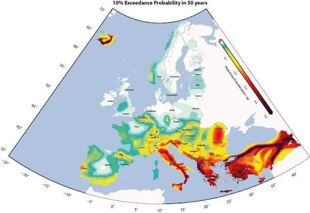 Η Ελλάδα έχει 157 ενεργά σεισμικά ρήγματα που έχουν δώσει 570 σεισμούς μεγαλύτερους των 6 βαθμών της κλίμακας Ρίχτερ, εκ των οποίων, οι 20 σημειώθηκαν στη Ζάκυνθο, οι 17 στην Κεφαλλονιά και οι 16 στη Λευκάδα κατατάσσοντας το Ιόνιο ως την πιο σεισμογενή περιοχή της Ελλάδας.