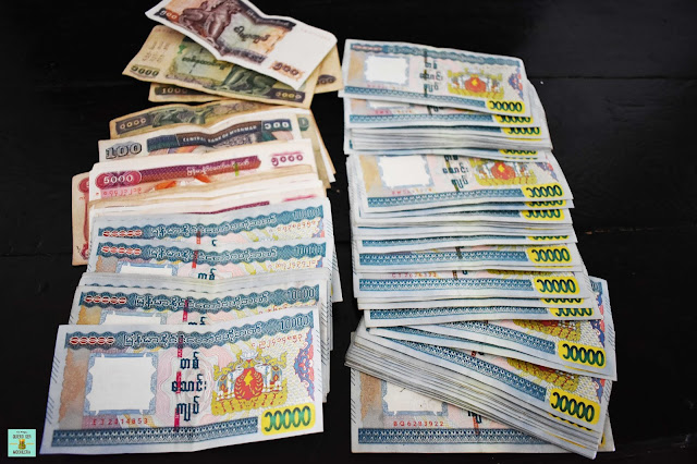 Dinero en Myanmar
