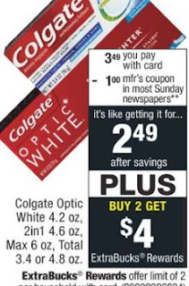 FREE Colgate Optic White Toothpaste at CVS - 6/2-6/8