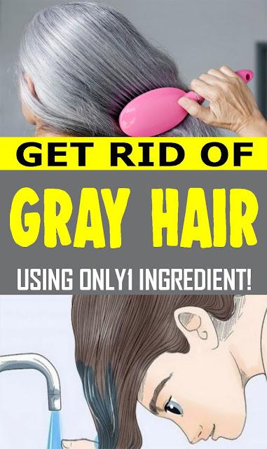 Dispose Of Gray Hair Using Only 1 Ingredient