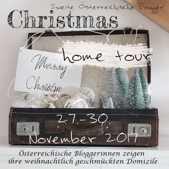 Gartenblog Topfgartenwelt festliche Weihnachtsdekoration in Rot und Weiß + Rezept Flammkuchen: Christmas Hometour 2017 österreichische Bloggerinnen