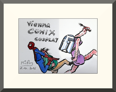 Cosplay als Karikatur von MirRoy