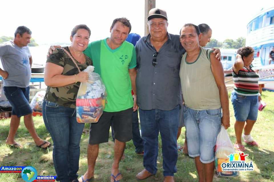Prefeito de Oriximiná Ludugero Tavares  entregou 1.000 cestas básicas para comunidades ribeirinhas que sofreram com a enchente deste ano.