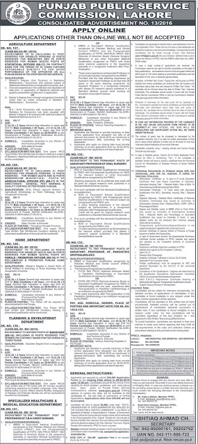 Officers & Doctors Jobs in PPSC for Different Posts