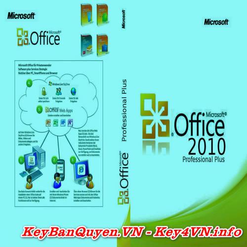 Mua bán key bản quyền Office 2010 Pro Plus Full 32 và 64 Bit .