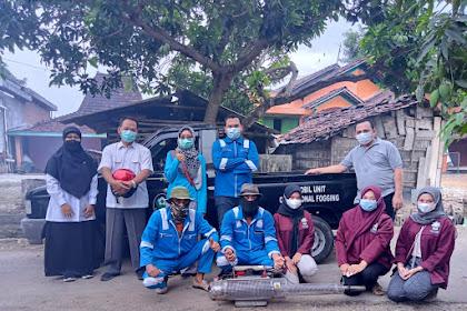 Cegah DBD KKN IK IAIN KUDUS Sukseskan Program Kerja Desa Keben - Lakukan Fogging