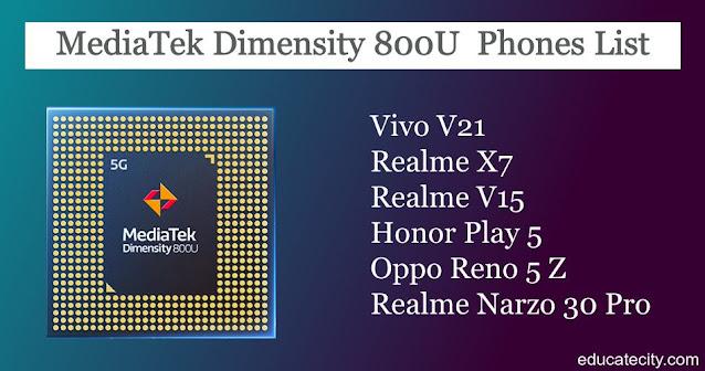 MediaTek Dimensity 800U Smartphones