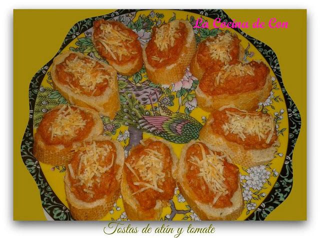tostas atún tomate