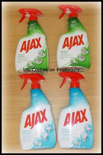 Limpiador spray cocina y baño Ajax en Notino #Ajax #limpiador #limpiezahogar #notino #cocina #kitchen #baño #bathroom