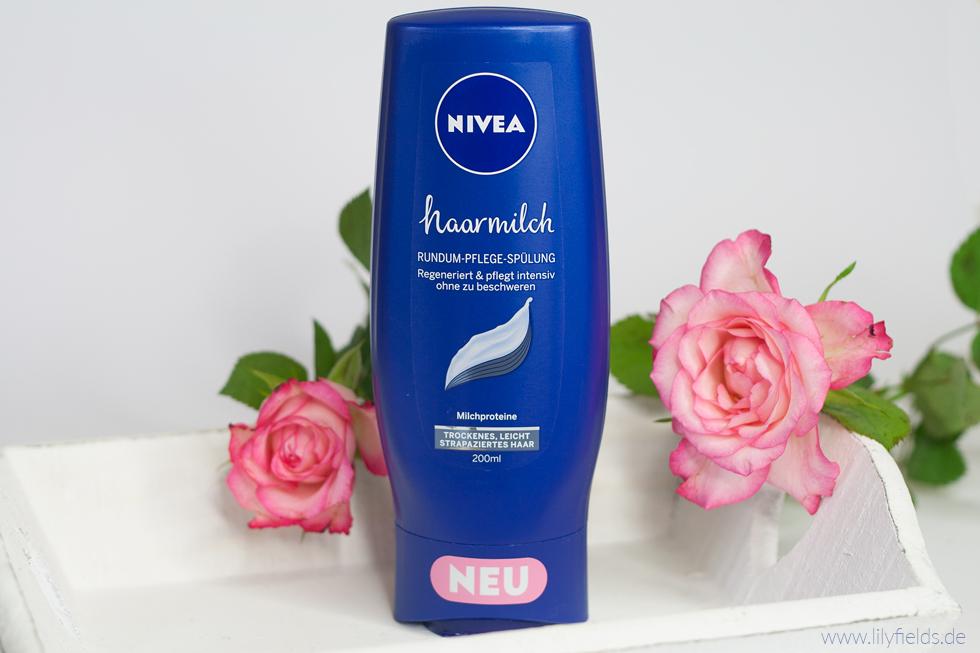 Foto zeigt Nivea Haarmilch Rundum-Pflege Spülung