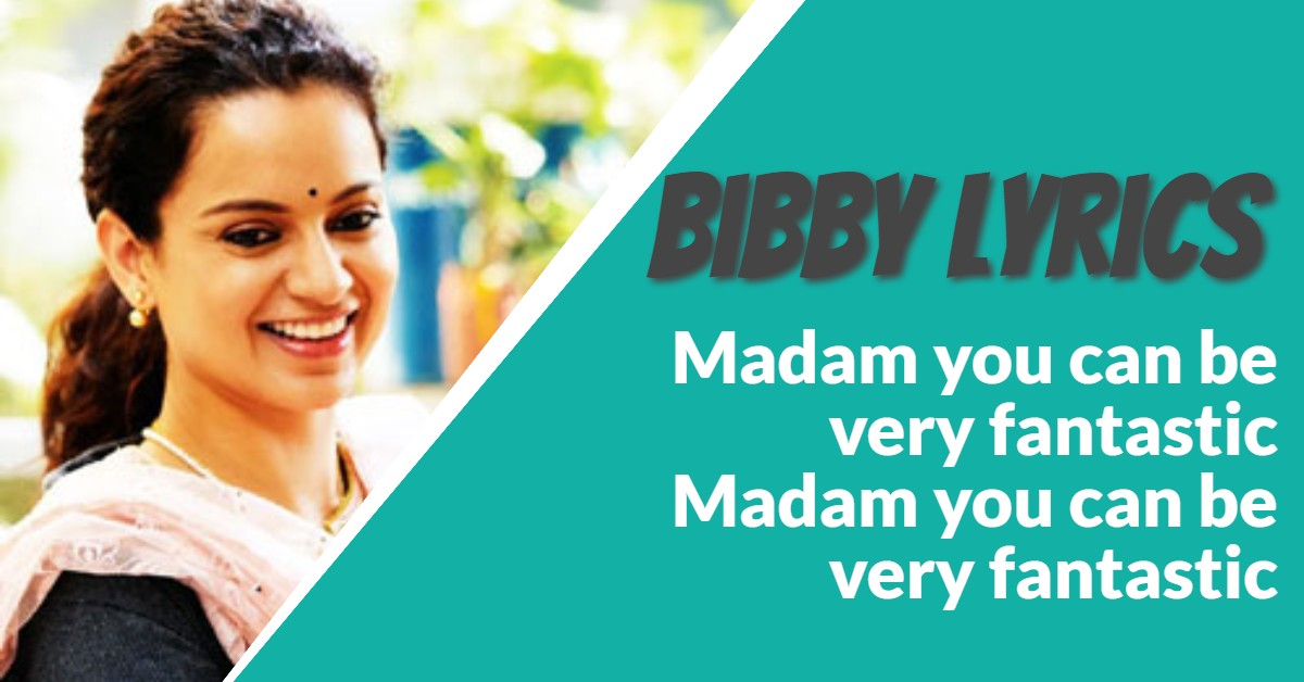 Bibby Song Lyrics From Movie Panga