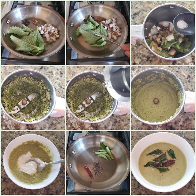 images of Doddapatre Tambuli / Doddapathre Tambli /Sambara Balli Thambli / Karpooravalli Thayir Pachadi